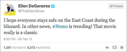 Ellen Degeneres Nemo