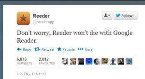 Reeder app announcement