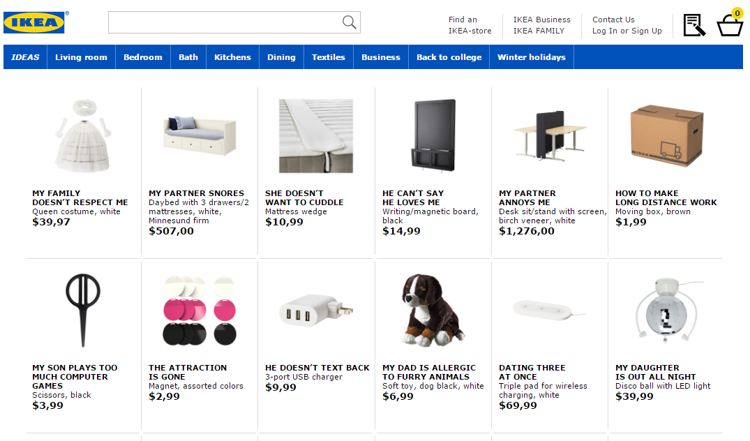 Ikea Renames Products For New Seo Focused Retail Therapy Campaign