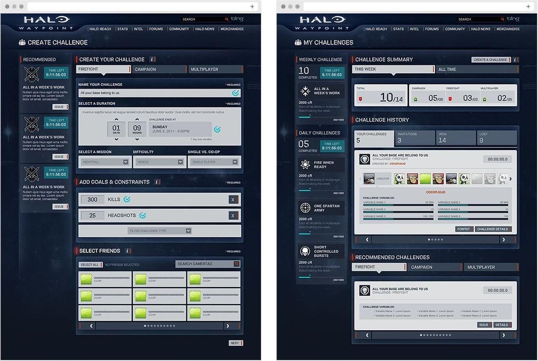 Desktop views of the Waypoint Site