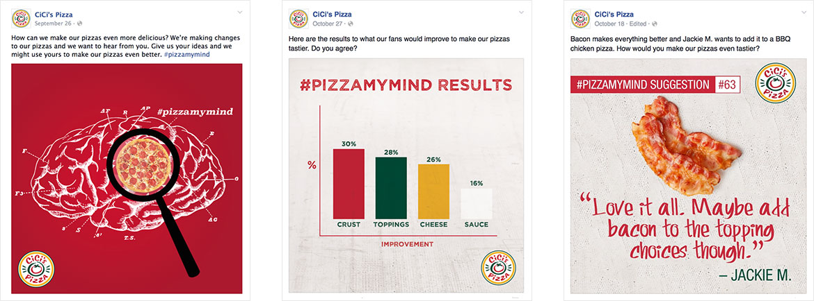 Cicis Social Media: Speaking to Emotions