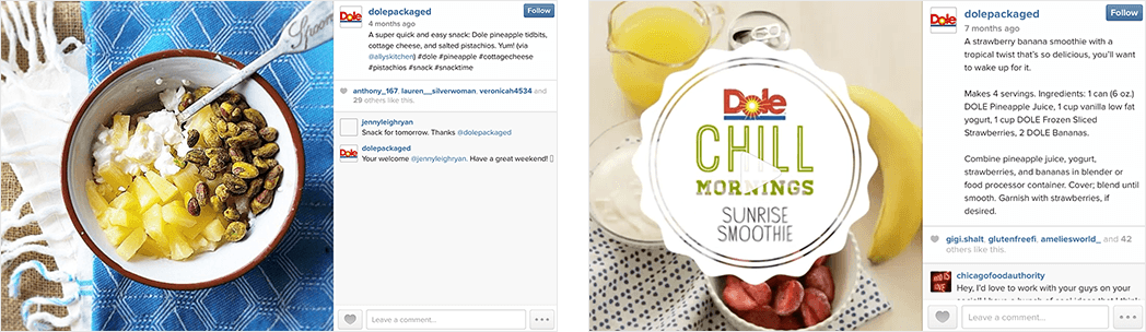 Dole Social Media: Simplifying Healthy Meals