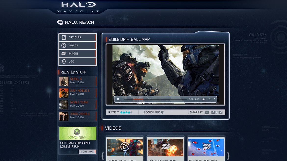 Halo: Waypoint Community  The destination also features Halo Bulletin, blog posts, polls and forum posts.