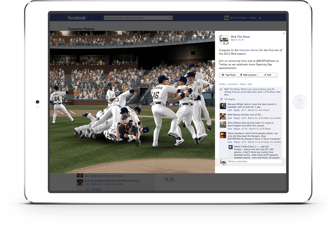 PlayStation MLB The Show - Real-time Content Updates: Shareable Victory Celebrations