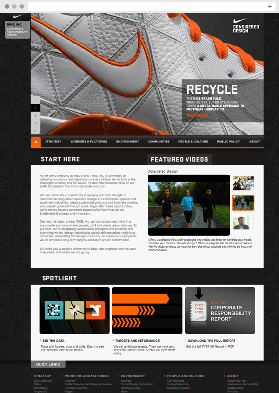 Nike Corporate Social Responsibility (CSR) Report – Recycle