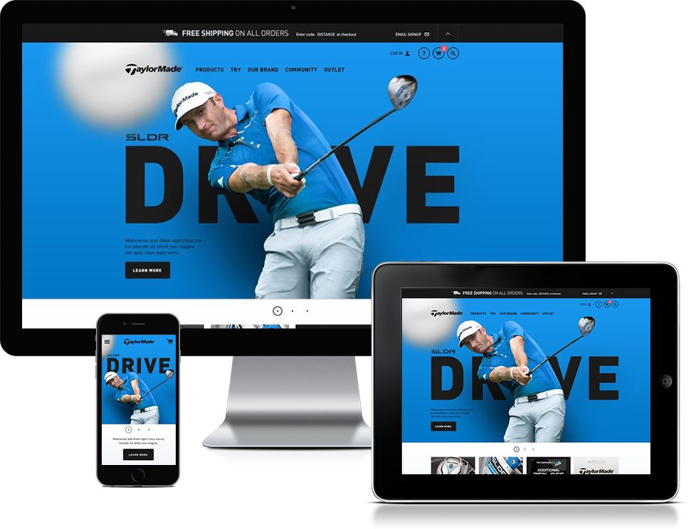 BLITZ Agency TaylorMade Golf Homepage Redesign