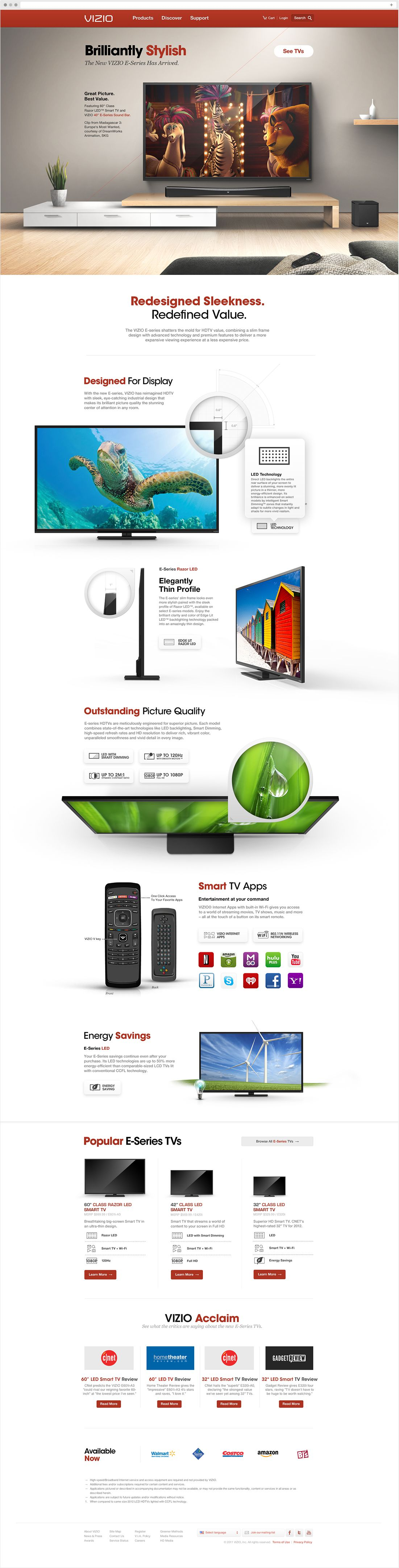 The Anatomy of a VIZIO Product Page
